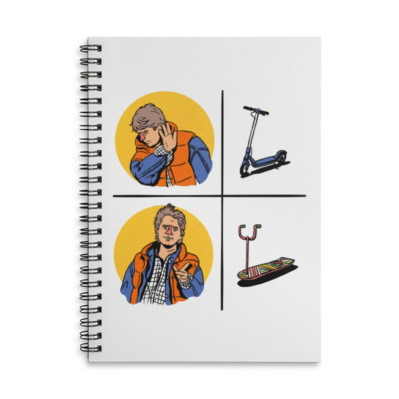 Scooter Accessories Lined Spiral Notebook by Rodrigobhz