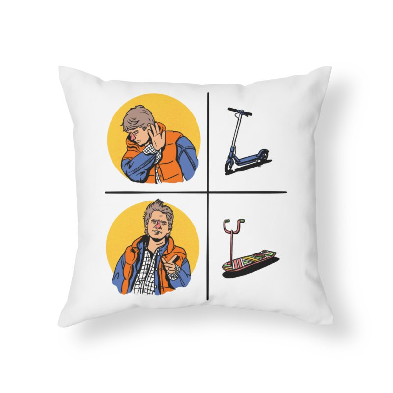 Scooter Home Throw Pillow by Rodrigobhz