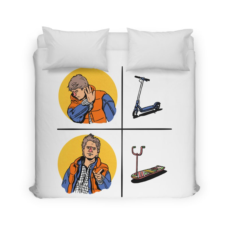 Scooter Home Duvet by Rodrigobhz