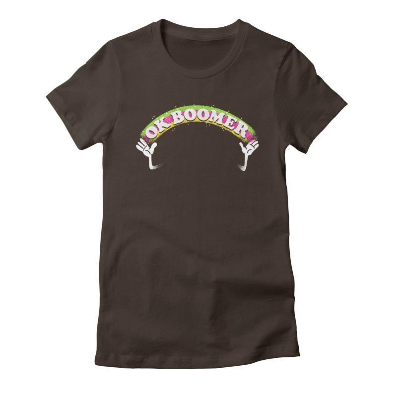 OK Boomer Women's Fitted T-Shirt by Rodrigobhz