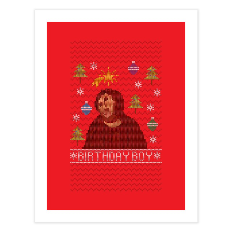 Ugly Jesus Sweater Home Fine Art Print by Rodrigobhz