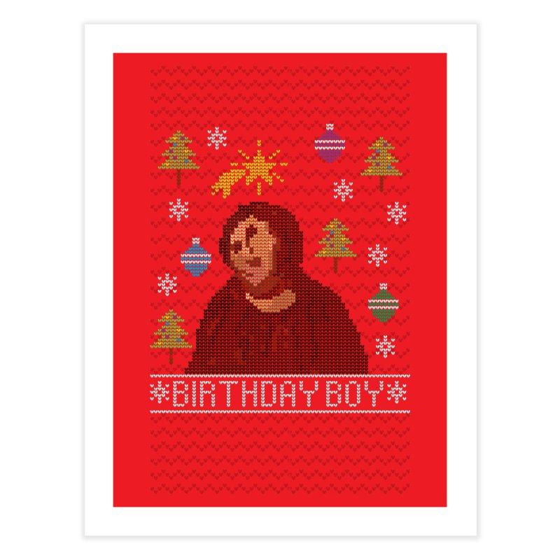 Ugly Jesus Sweater Home Fine Art Print by Rodrigobhz