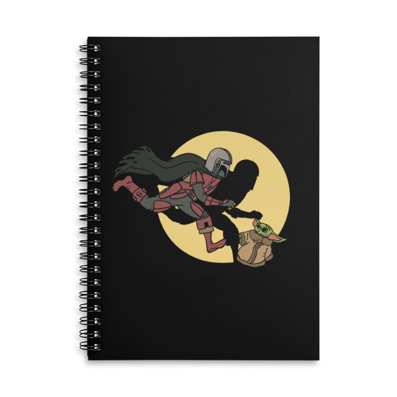 The Adventures of Mando Accessories Lined Spiral Notebook by Rodrigobhz