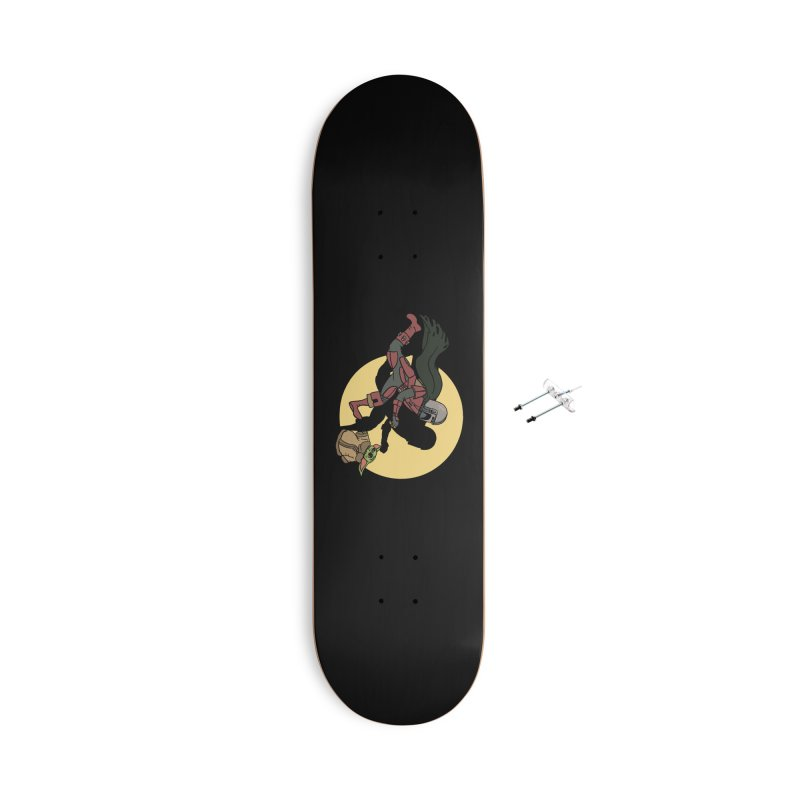 The Adventures of Mando Accessories With Hanging Hardware Skateboard by Rodrigobhz