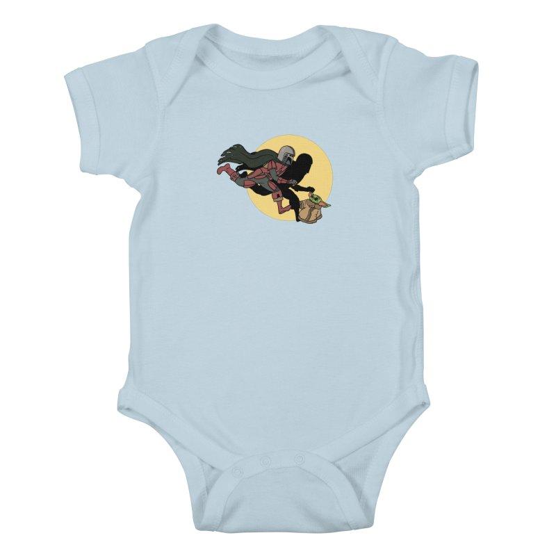 The Adventures of Mando Kids Baby Bodysuit by Rodrigobhz