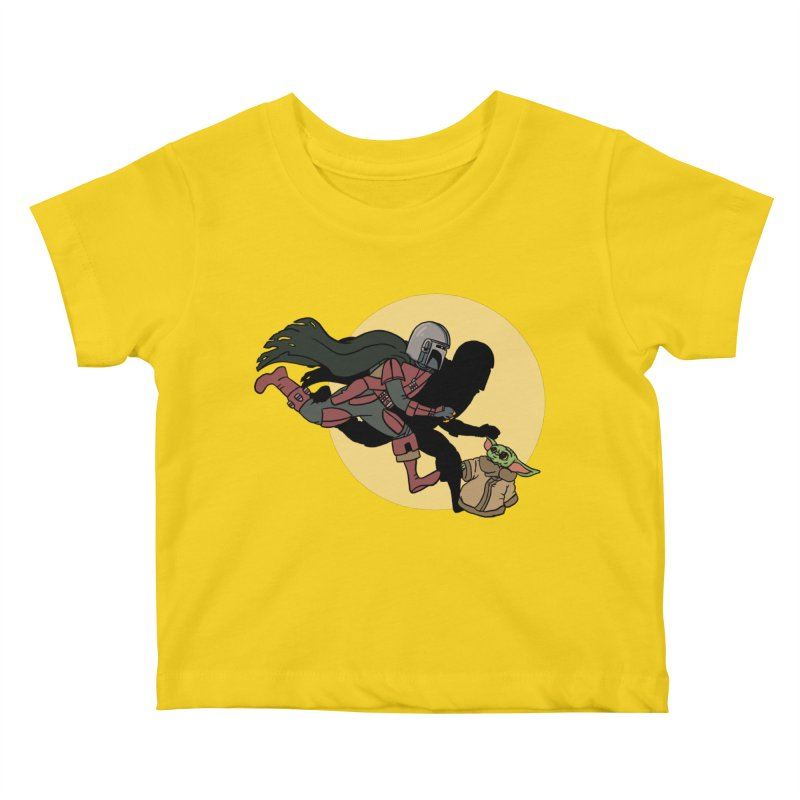 The Adventures of Mando Kids Baby T-Shirt by Rodrigobhz