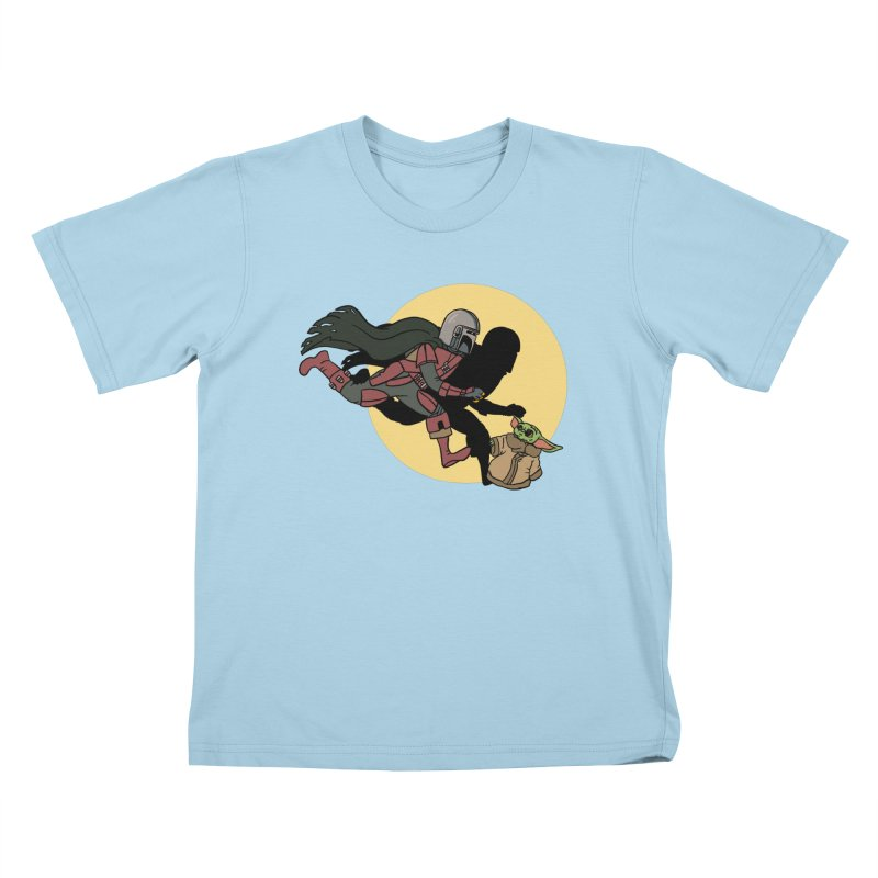 The Adventures of Mando Kids T-Shirt by Rodrigobhz