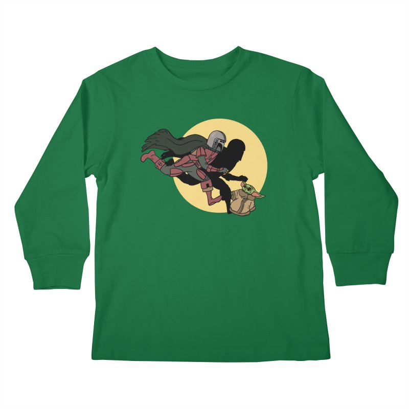 The Adventures of Mando Kids Longsleeve T-Shirt by Rodrigobhz