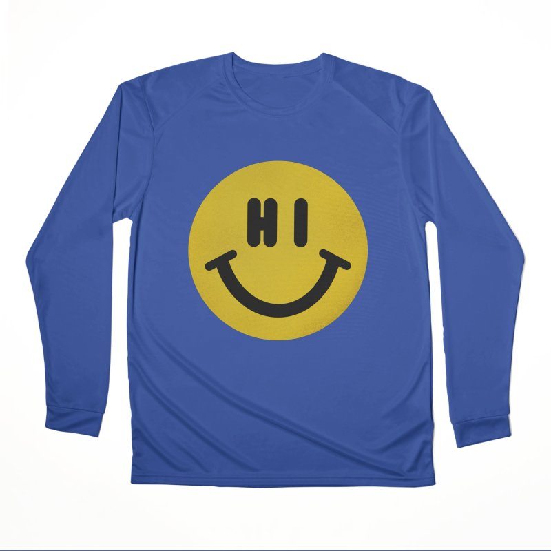 Hi Men's Performance Longsleeve T-Shirt by Rodrigobhz