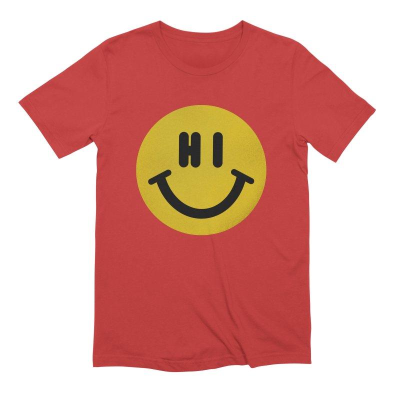 Hi Men's Extra Soft T-Shirt by Rodrigobhz