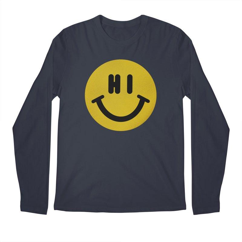 Hi Men's Regular Longsleeve T-Shirt by Rodrigobhz