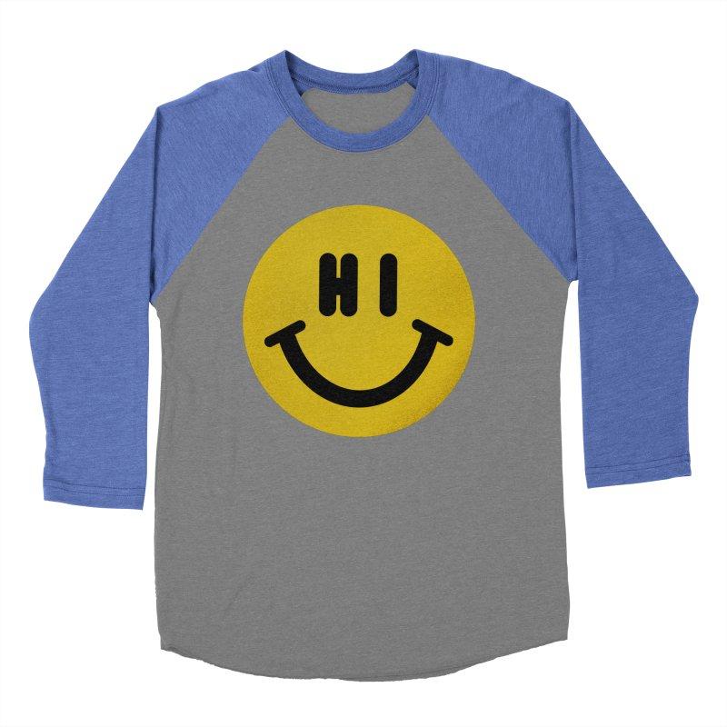 Hi Men's Baseball Triblend Longsleeve T-Shirt by Rodrigobhz