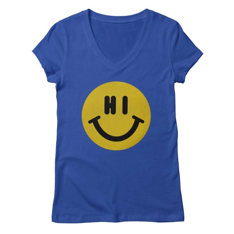 Hi Women's Regular V-Neck by Rodrigobhz