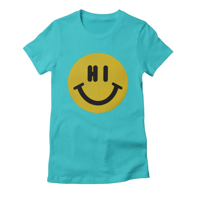 Hi Women's Fitted T-Shirt by Rodrigobhz