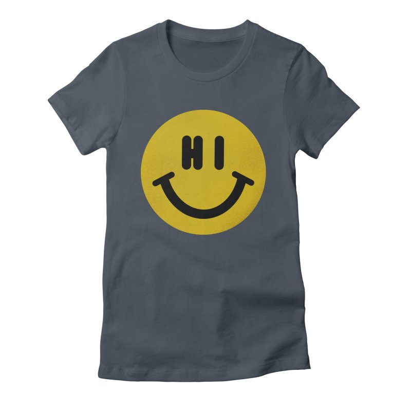 Hi Women's Fitted T-Shirt by Rodrigobhz