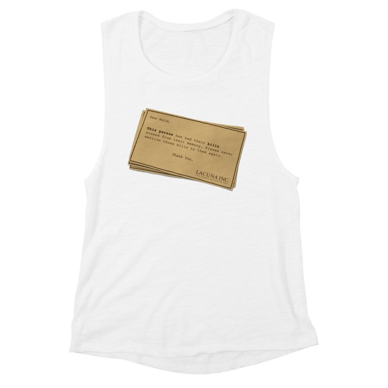 Remember, you can forget the bills Women's Muscle Tank by Rodrigobhz