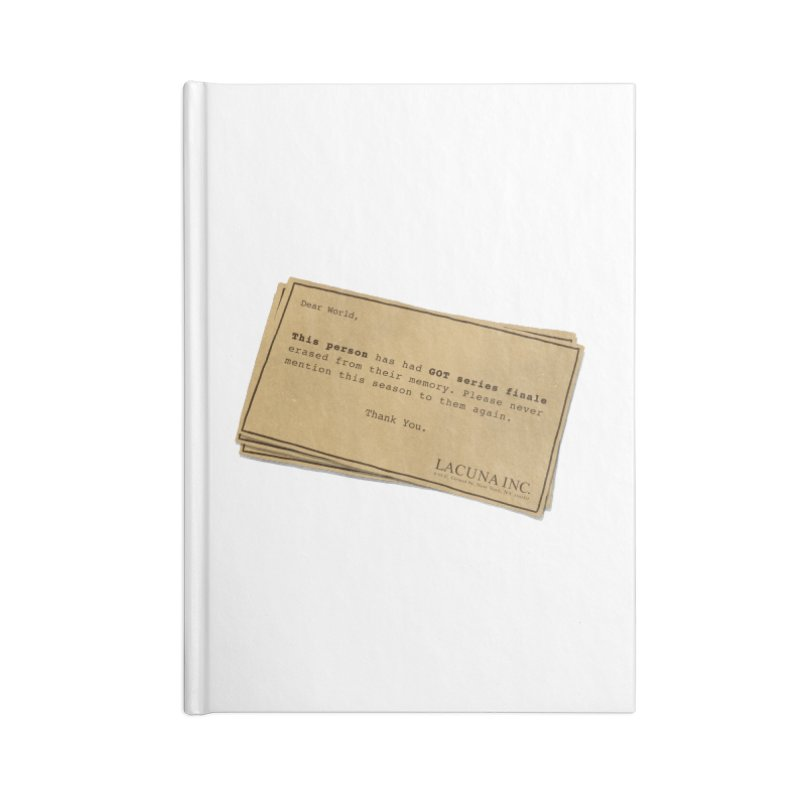 You can forget GOT bad ending Accessories Lined Journal Notebook by Rodrigobhz