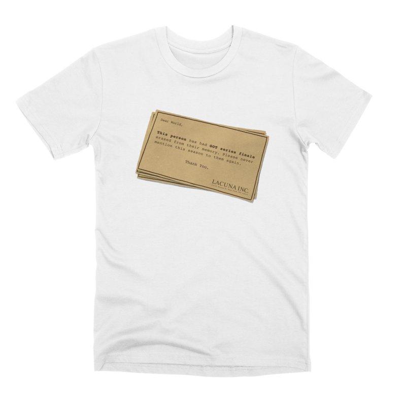 You can forget GOT bad ending Men's Premium T-Shirt by Rodrigobhz