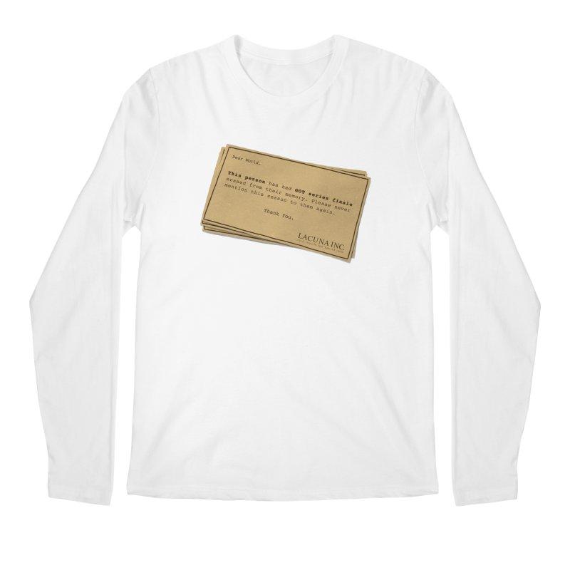 You can forget GOT bad ending Men's Regular Longsleeve T-Shirt by Rodrigobhz