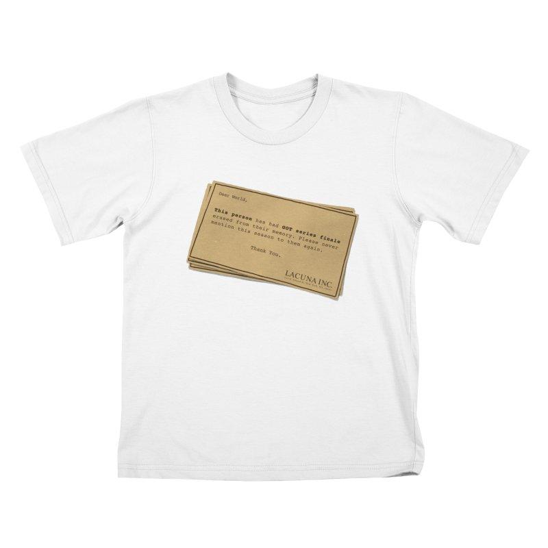 You can forget GOT bad ending Kids T-Shirt by Rodrigobhz