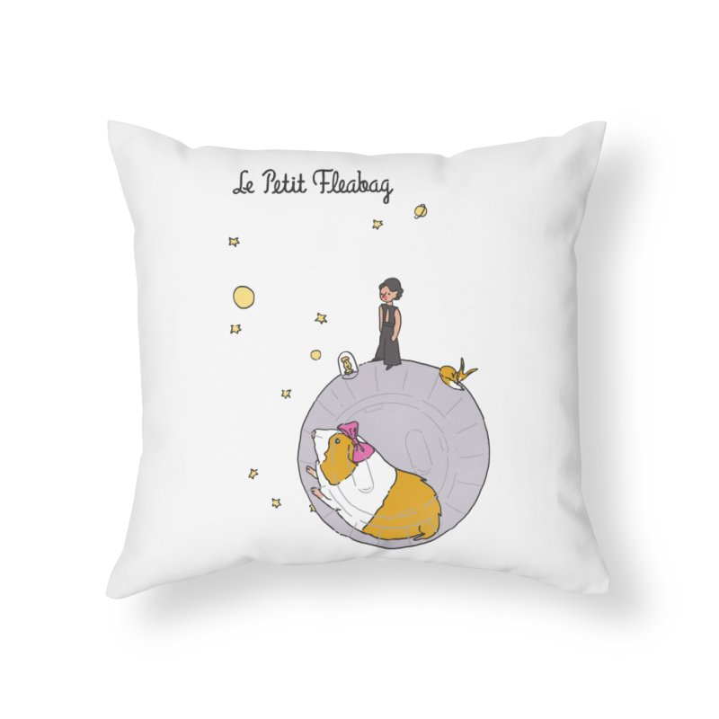 Le Petit Fleabag Home Throw Pillow by Rodrigobhz