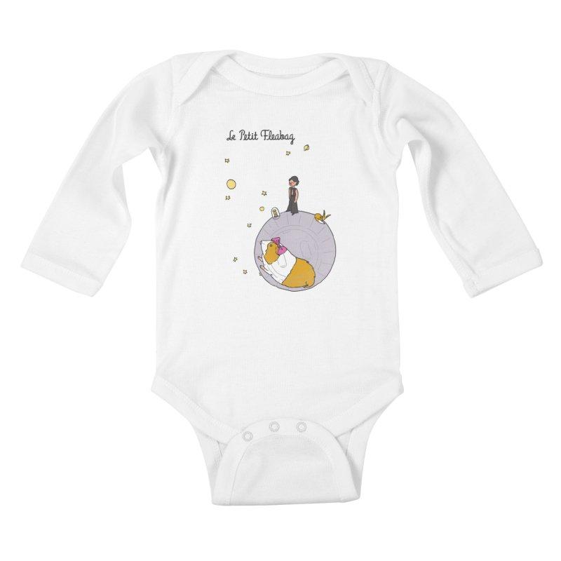Le Petit Fleabag Kids Baby Longsleeve Bodysuit by Rodrigobhz