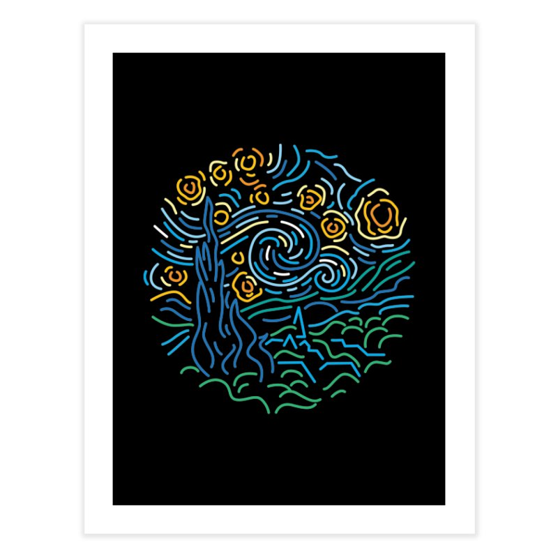 Starry night Home Fine Art Print by Rodrigobhz