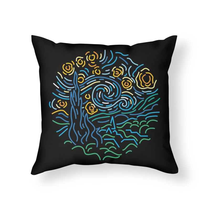Starry night Home Throw Pillow by Rodrigobhz