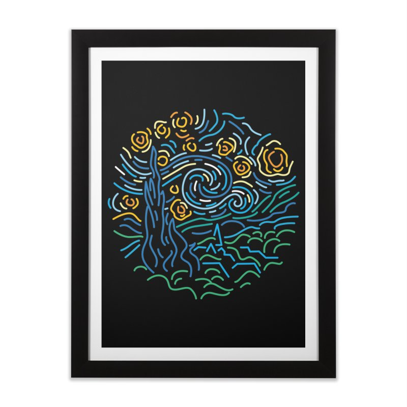 Starry night Home Framed Fine Art Print by Rodrigobhz