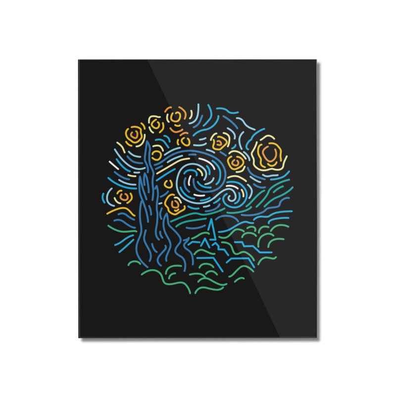 Starry night Home Mounted Acrylic Print by Rodrigobhz