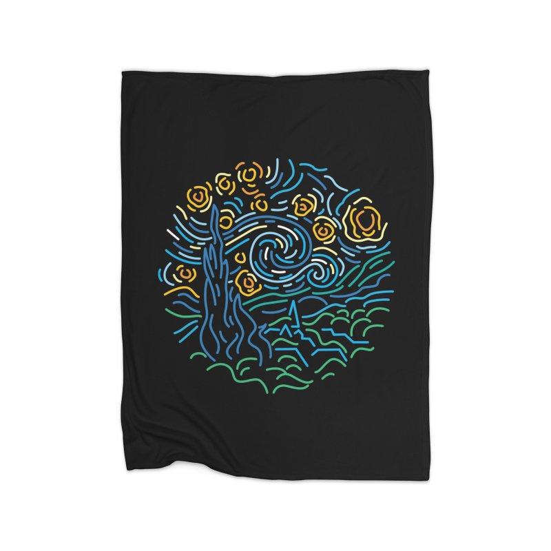 Starry night Home Fleece Blanket Blanket by Rodrigobhz
