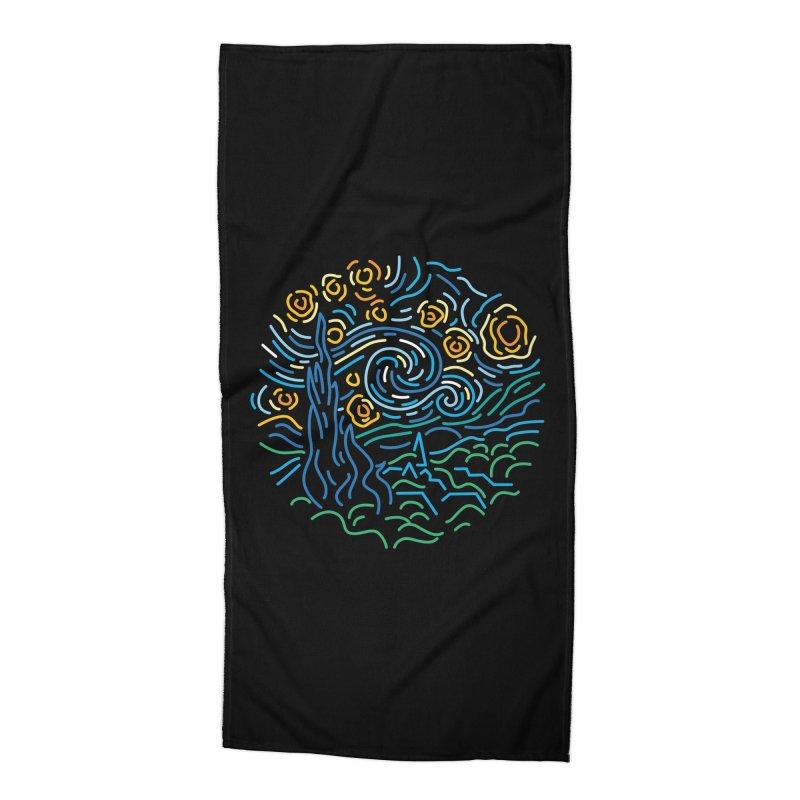Starry night Accessories Beach Towel by Rodrigobhz