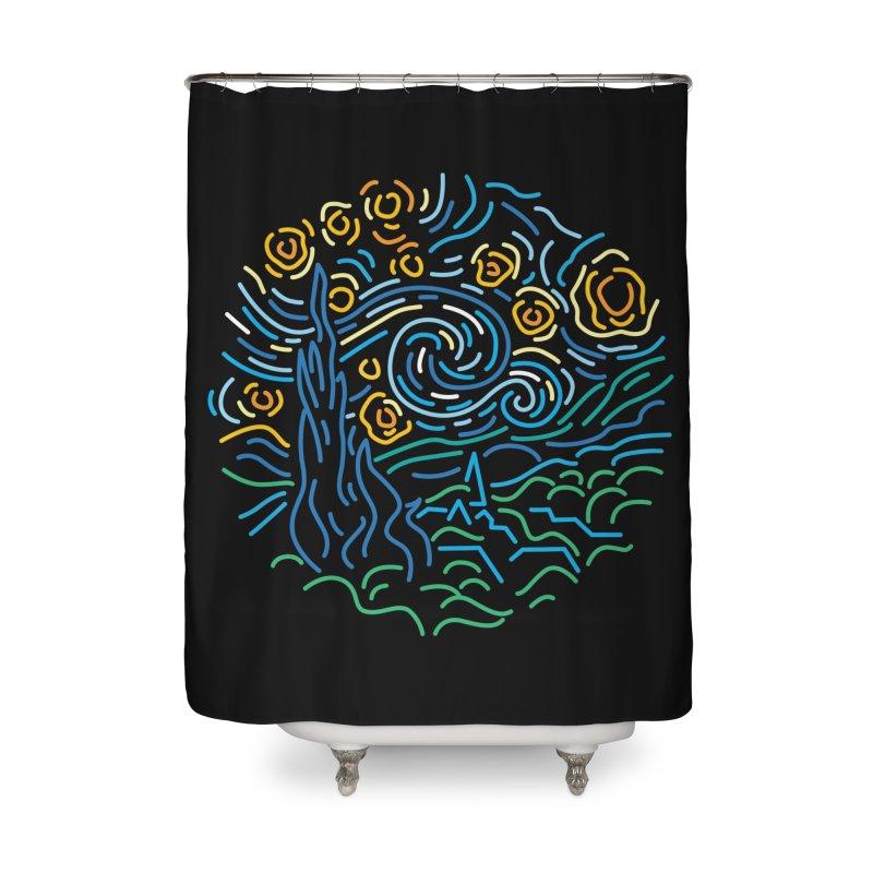 Starry night Home Shower Curtain by Rodrigobhz