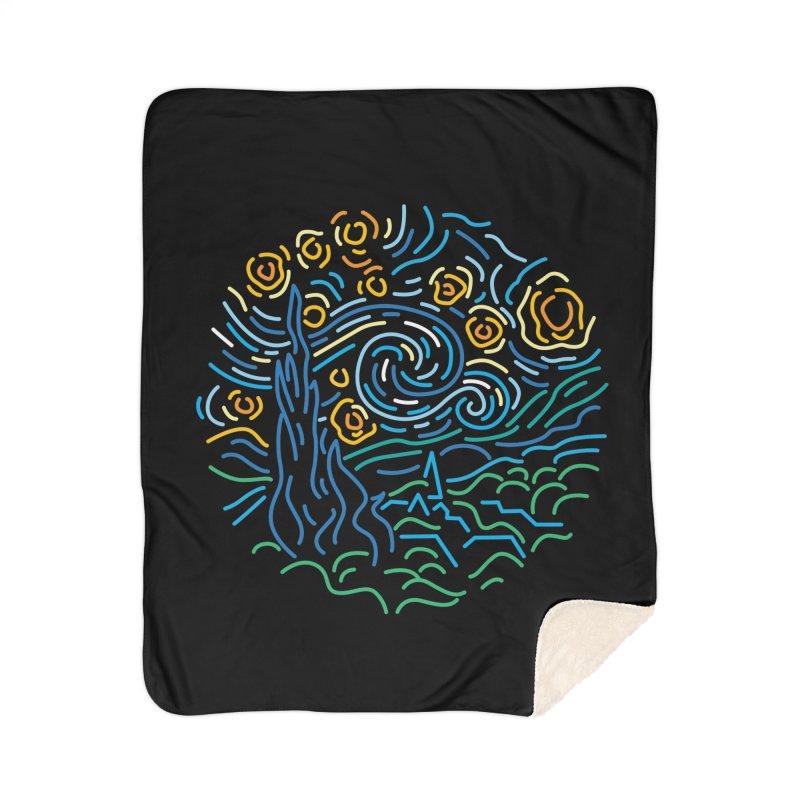 Starry night Home Sherpa Blanket Blanket by Rodrigobhz