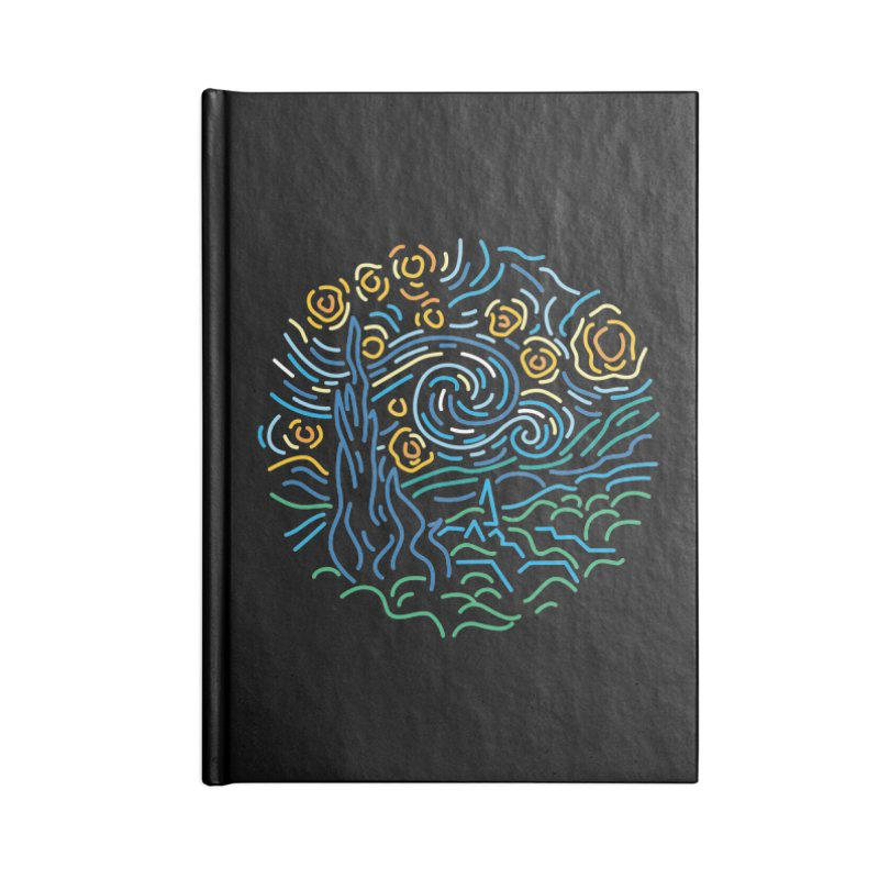 Starry night Accessories Lined Journal Notebook by Rodrigobhz