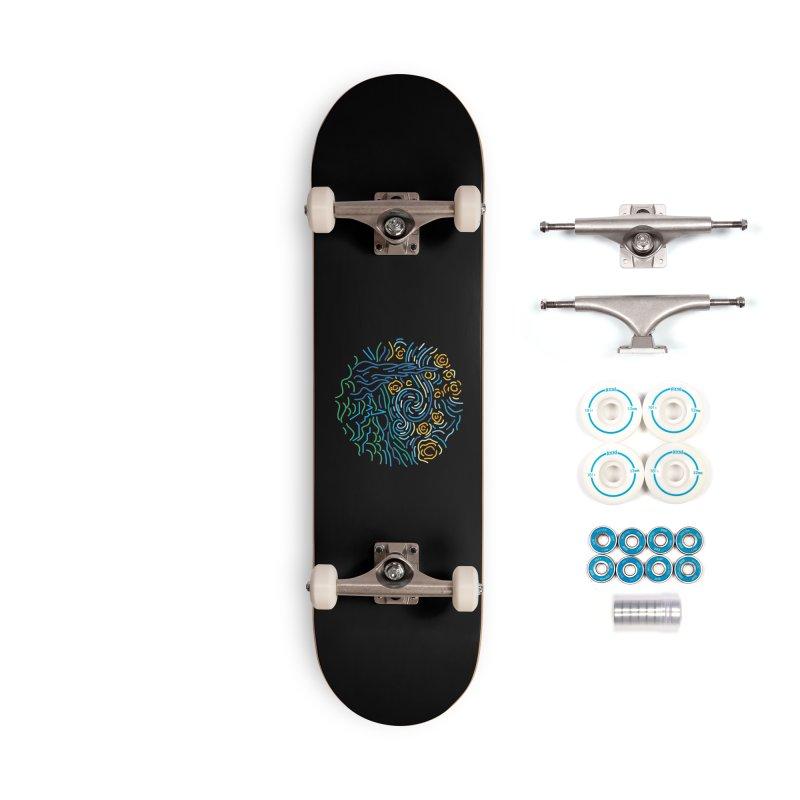 Starry night Accessories Complete - Basic Skateboard by Rodrigobhz
