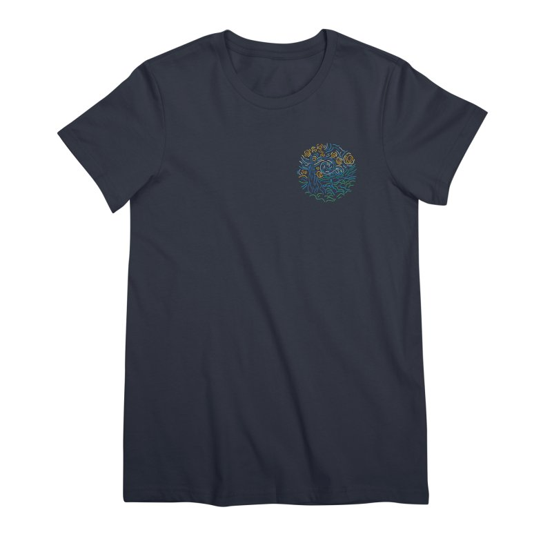 Starry night Women's Premium T-Shirt by Rodrigobhz