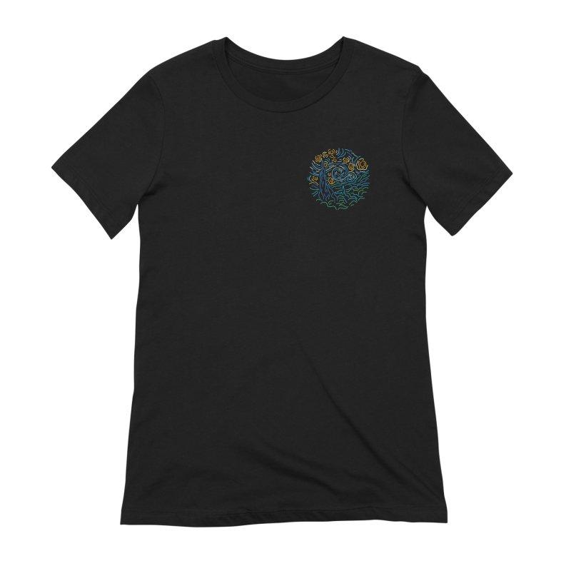 Starry night Women's Extra Soft T-Shirt by Rodrigobhz