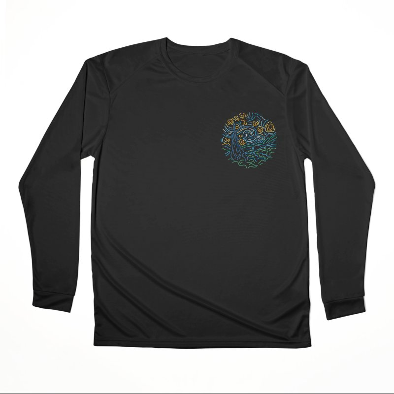 Starry night Men's Performance Longsleeve T-Shirt by Rodrigobhz