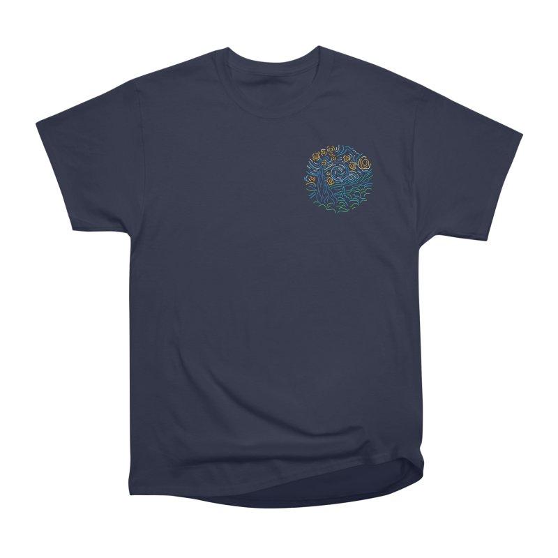 Starry night Women's Heavyweight Unisex T-Shirt by Rodrigobhz
