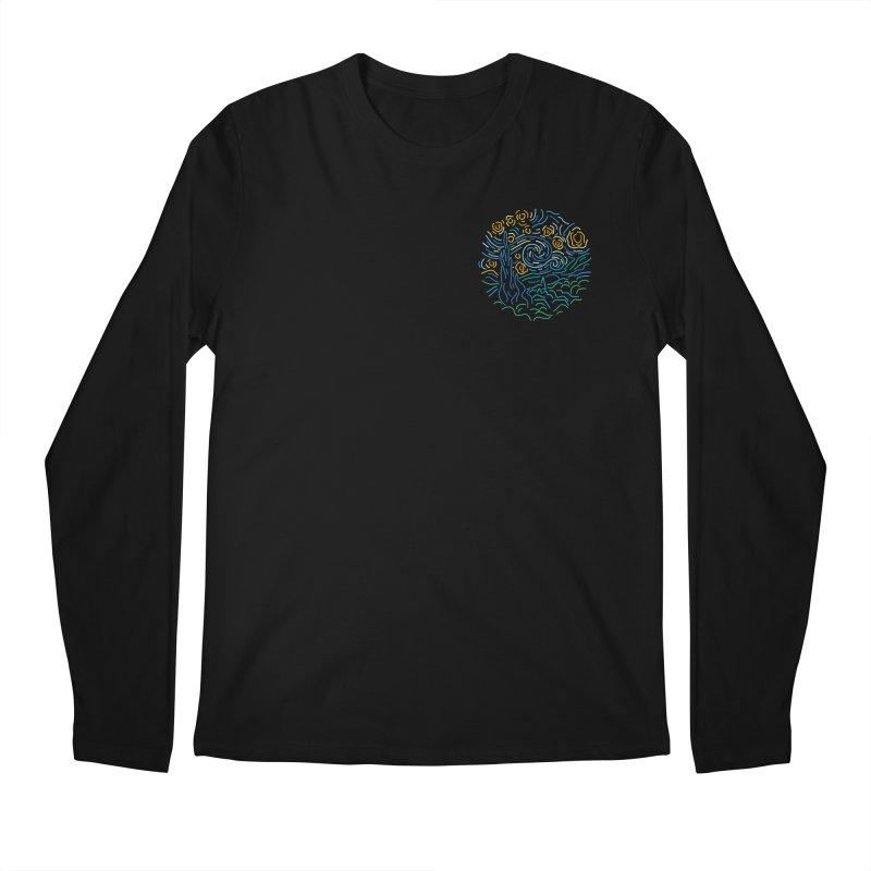 Starry night Men's Regular Longsleeve T-Shirt by Rodrigobhz