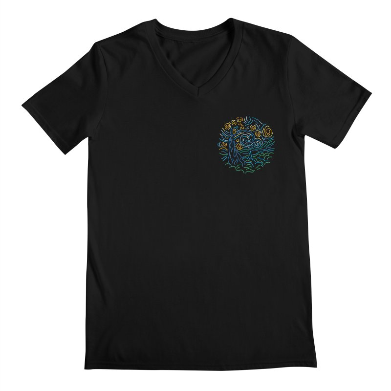 Starry night Men's Regular V-Neck by Rodrigobhz