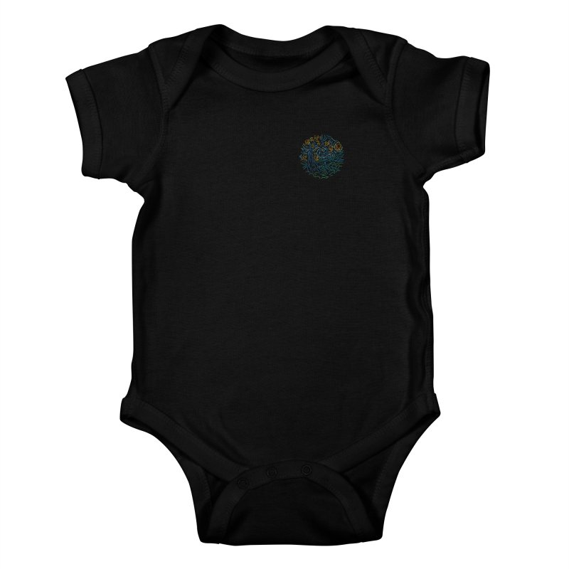 Starry night Kids Baby Bodysuit by Rodrigobhz