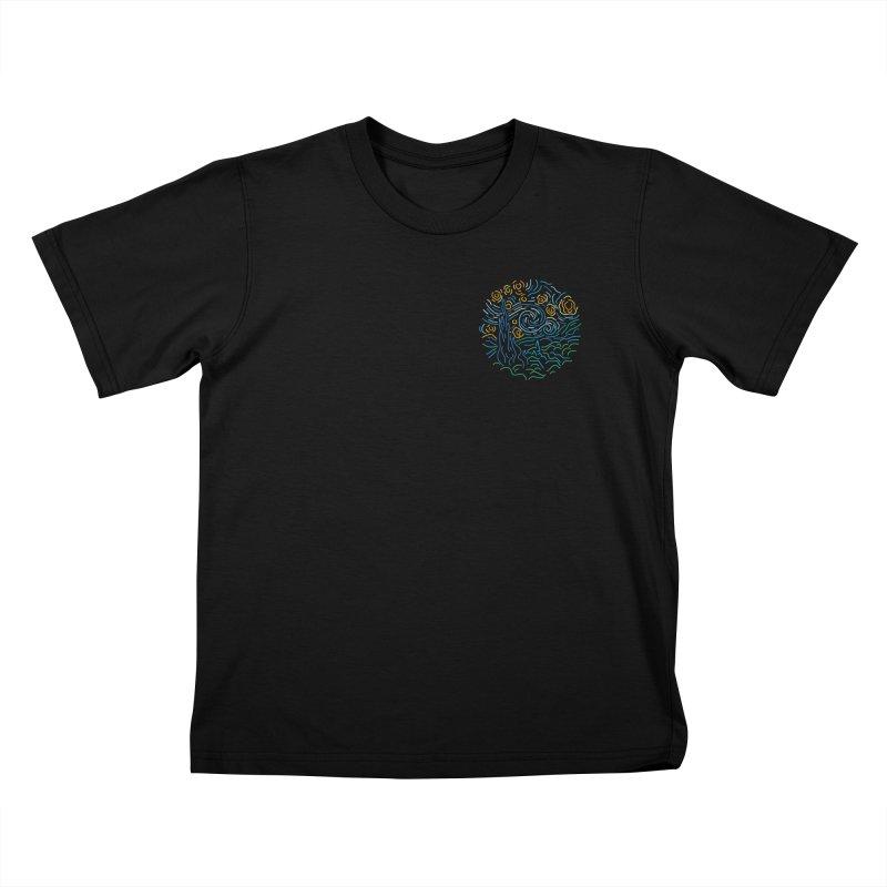 Starry night Kids T-Shirt by Rodrigobhz