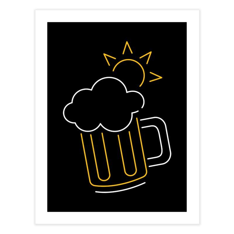 Sunny beer Home Fine Art Print by Rodrigobhz