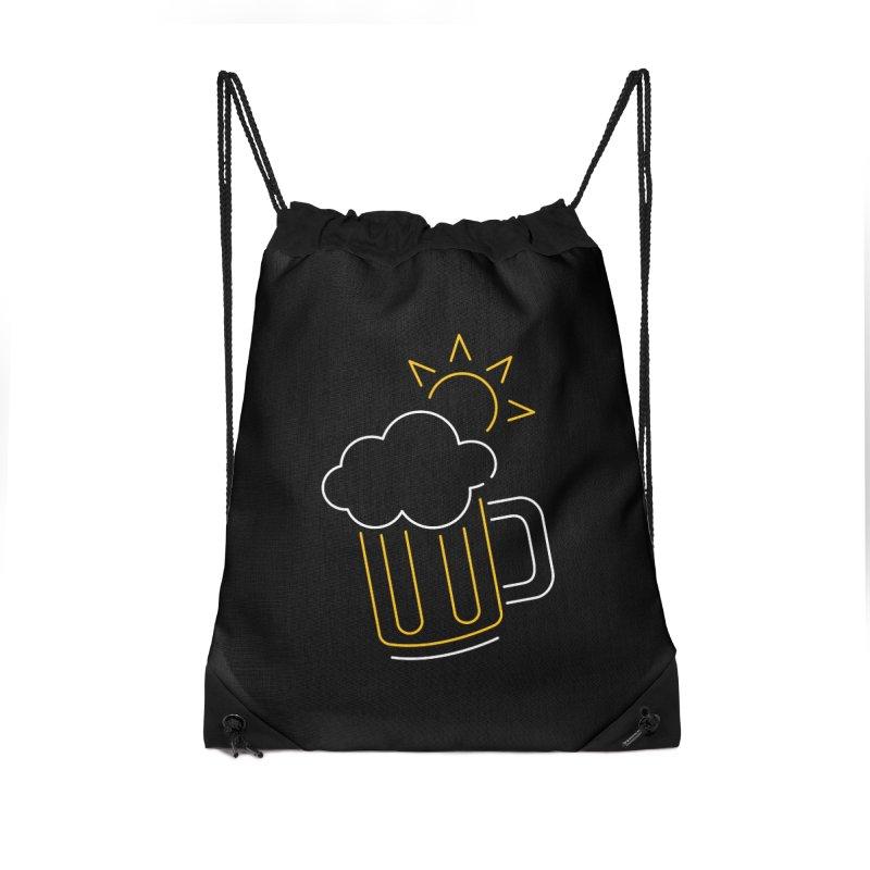 Sunny beer Accessories Drawstring Bag Bag by Rodrigobhz