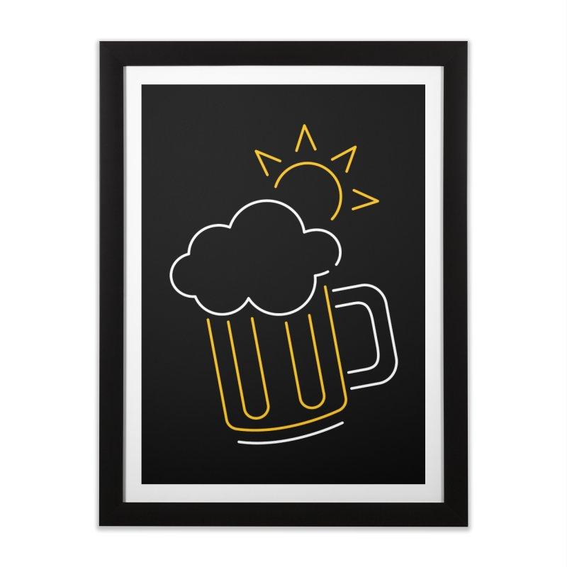 Sunny beer Home Framed Fine Art Print by Rodrigobhz