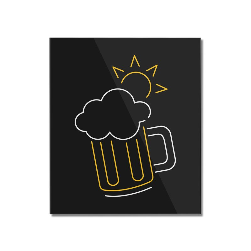 Sunny beer Home Mounted Acrylic Print by Rodrigobhz
