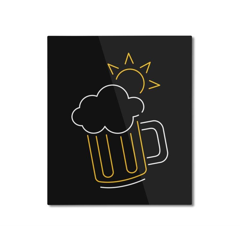 Sunny beer Home Mounted Aluminum Print by Rodrigobhz