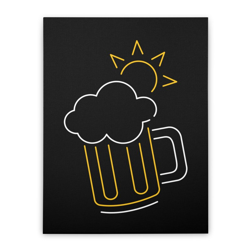 Sunny beer Home Stretched Canvas by Rodrigobhz